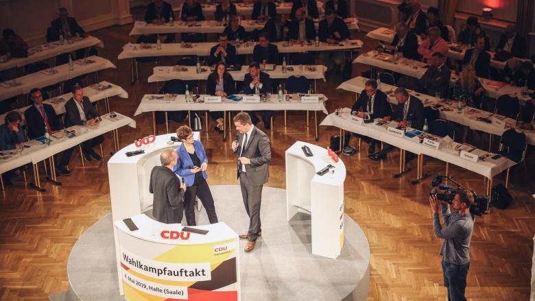 Wahlkampfauftakt Halle (Saale)