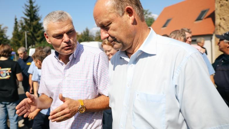 Hartmut Handschak im Gespräch mit Holger Stahlknecht