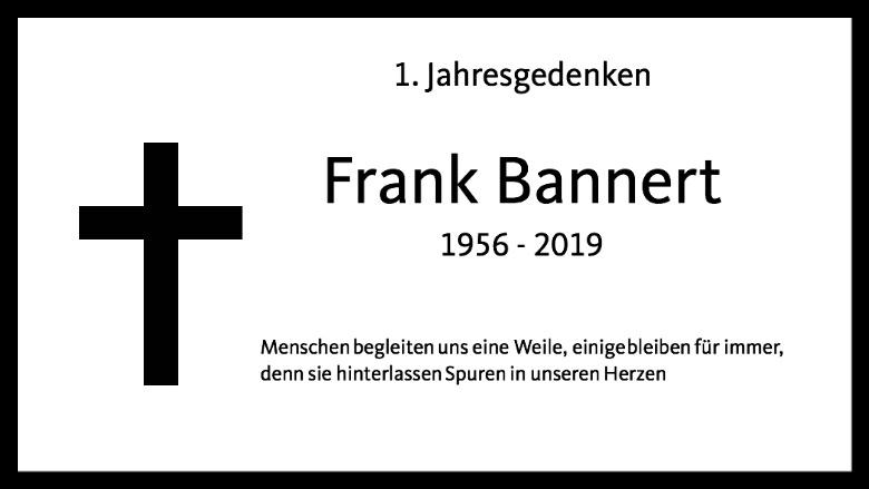 Jahresgedenken Frank Bannert