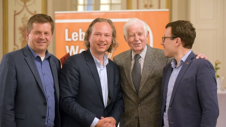 Vincent Grätsch und Prof. Kurt Biedenkopf
