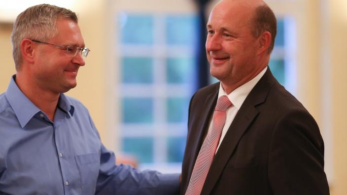 Hartmut Handschak und Christian Runkel